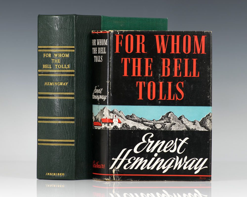an analysis of the hemingways for whom the bells tolls This is a series of excerpts from the sun also rises, a farewell to arms, the snows of kilimanjaro, for whom the bell tolls and the old man and the sea mrs hemingway is cautious on publication of manuscripts (july 29, 1961.