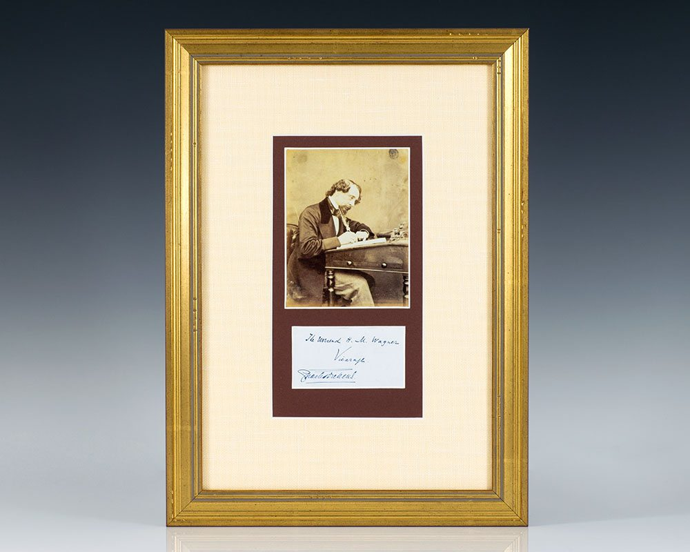 Charles Dickens Autograph.