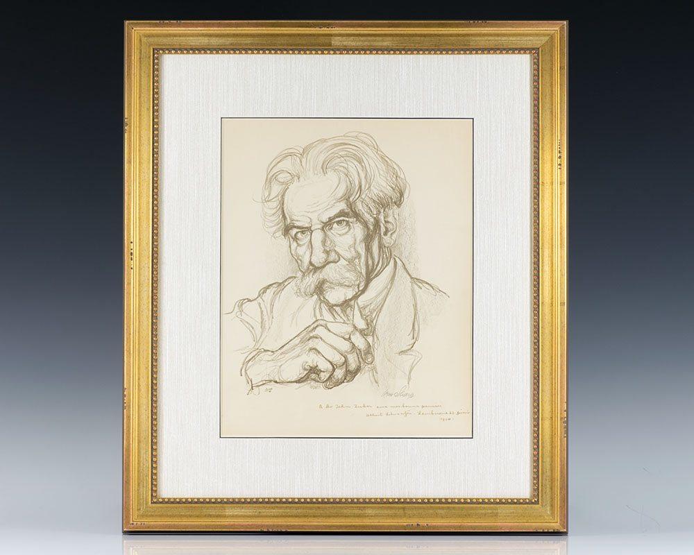 Albert Schweitzer Signed Lithograph.