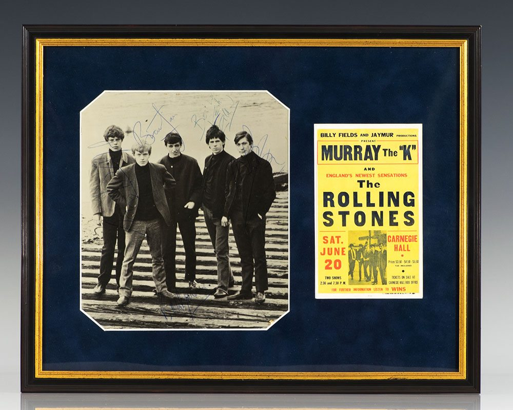 The Rolling Stones Signed Photograph.