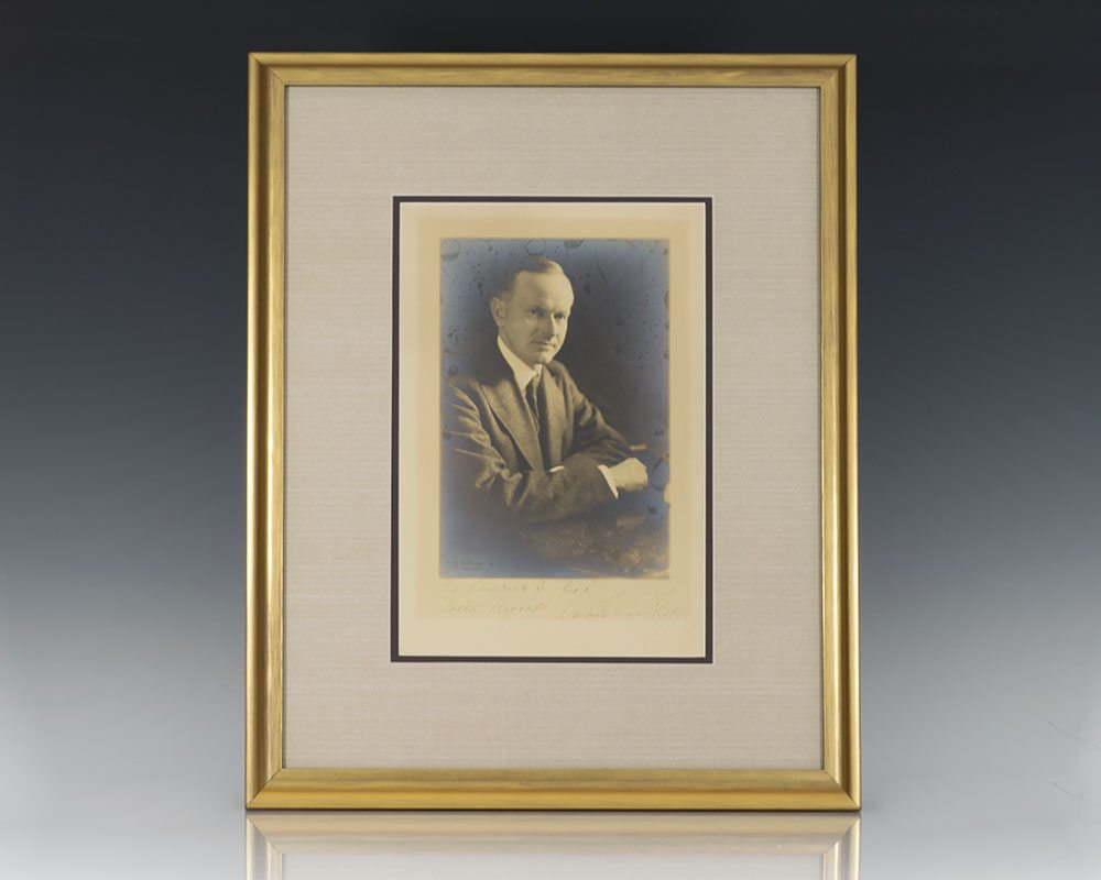 Calvin Coolidge Signed Photograph.