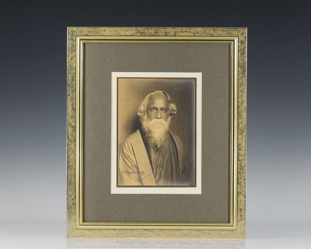 Rabindranath Tagore Signed Photograph.