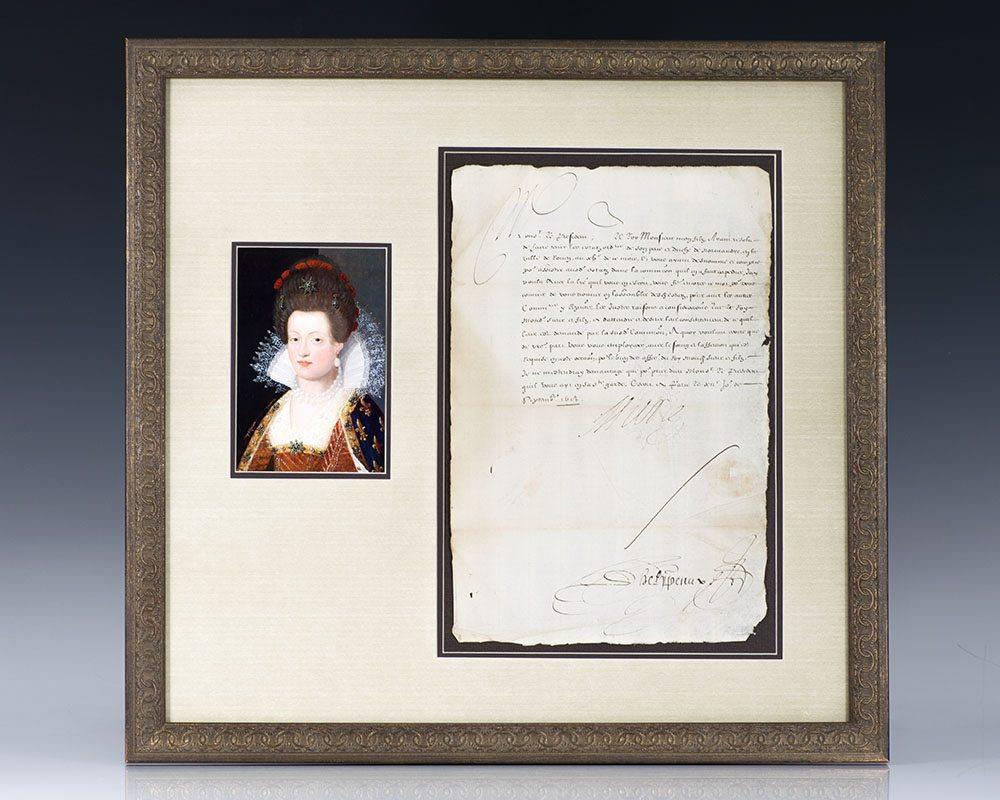 Marie de Medici Signed Document.