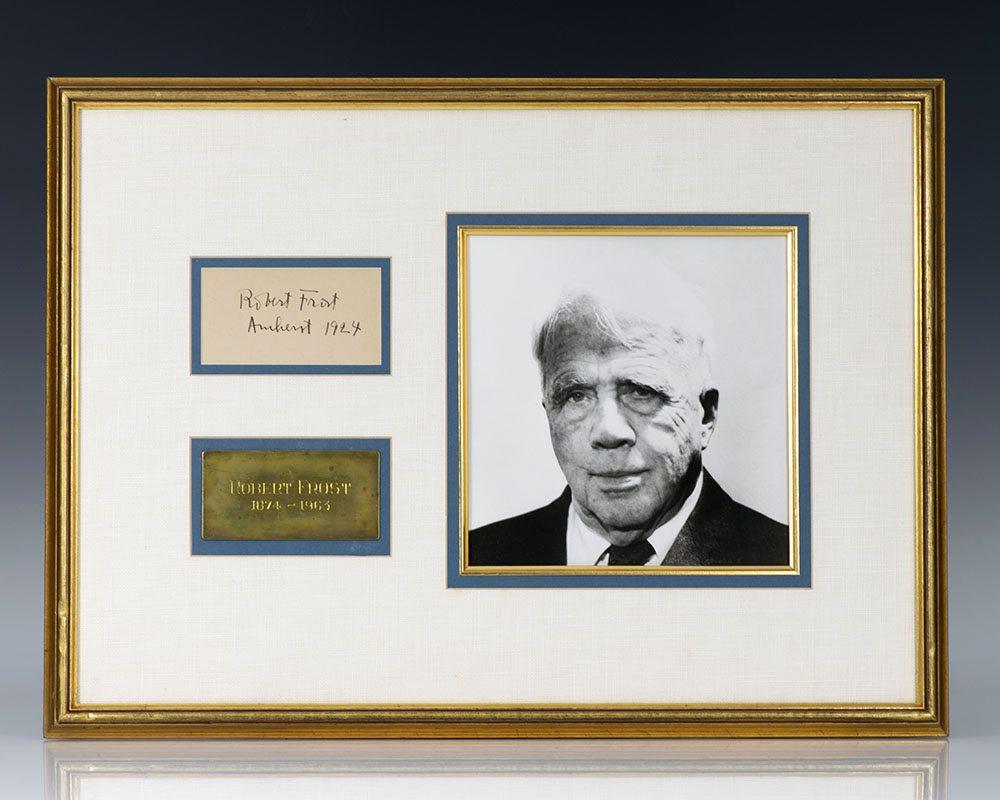 Robert Frost Autograph.