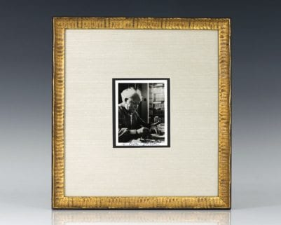 David Ben-Gurion Signed Photograph.