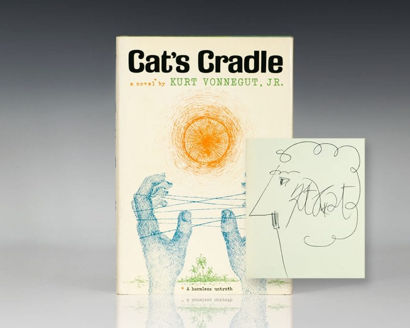 an analysis of cats cradle is vonneguts most highly praised novel Many of vonnegut's recurring themes are prevalent in cat's cradle, most notably the issues of free will and man's relation to technology the former is embodied in the creation of bokononism, an artificial religion created to make life bearable to the beleaguered inhabitants of san lorenzo through acceptance and delight in the.