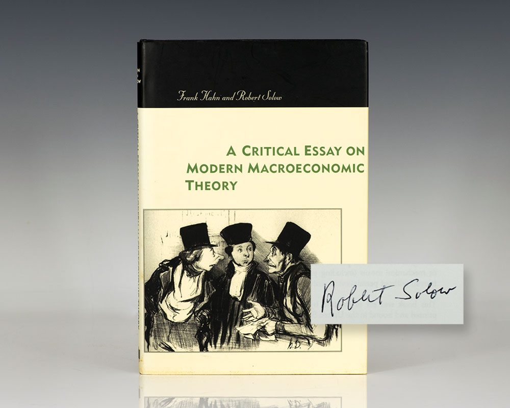 A Critical Essay on Modern Macroeconomic Theory.