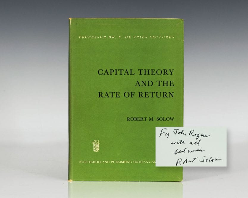 Capital Theory and the Rate of Return.