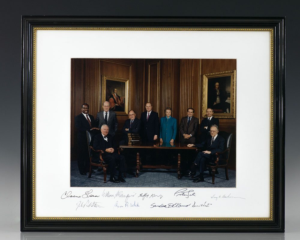 The Rehnquist Supreme Court Signed.