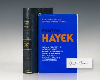Essays on Hayek.