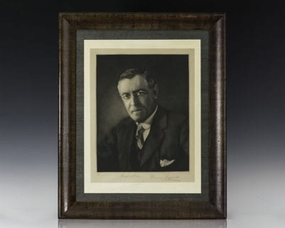 Woodrow Wilson Signed Portrait.