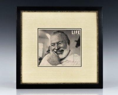 Ernest Hemingway Signed Life Magazine Cover.