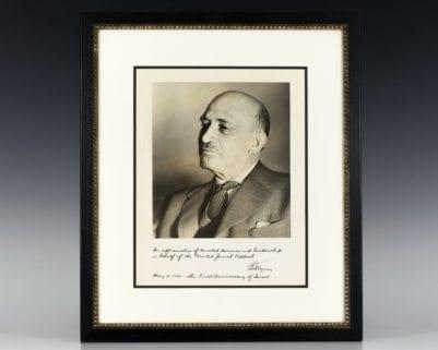 Chaim Weizmann Signed Photograph.