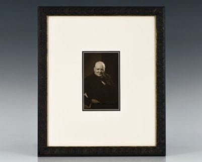 Winston Churchill Signed Photograph.