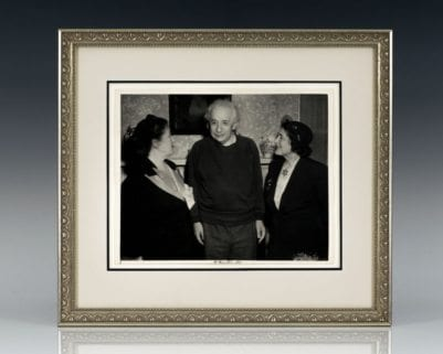 Albert Einstein Signed Photograph.