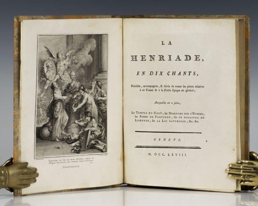 La Henriade and Collection Complete des Oeuvres de Mr. de Voltaire.