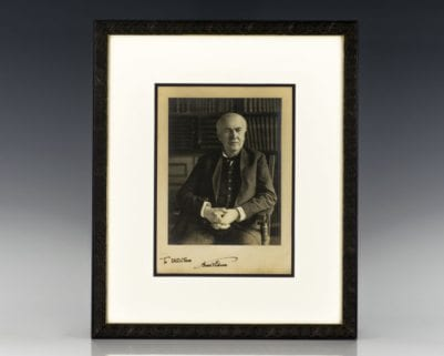 Thomas A. Edison Signed Photograph.