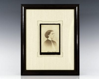 Clara Barton Signed Photograph.