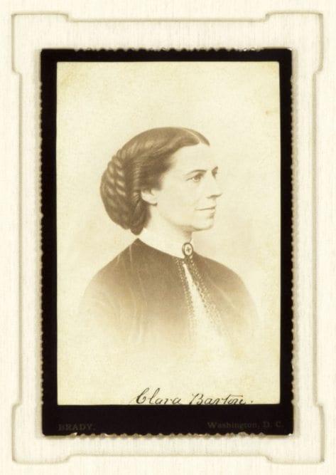 Clara Barton Signed Photograph.