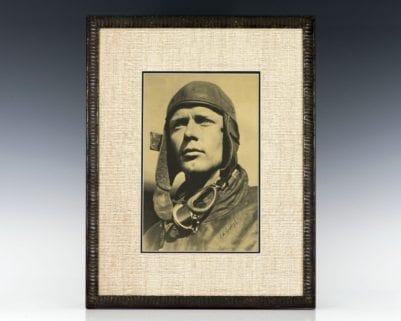 Charles Lindbergh Signed Photograph.