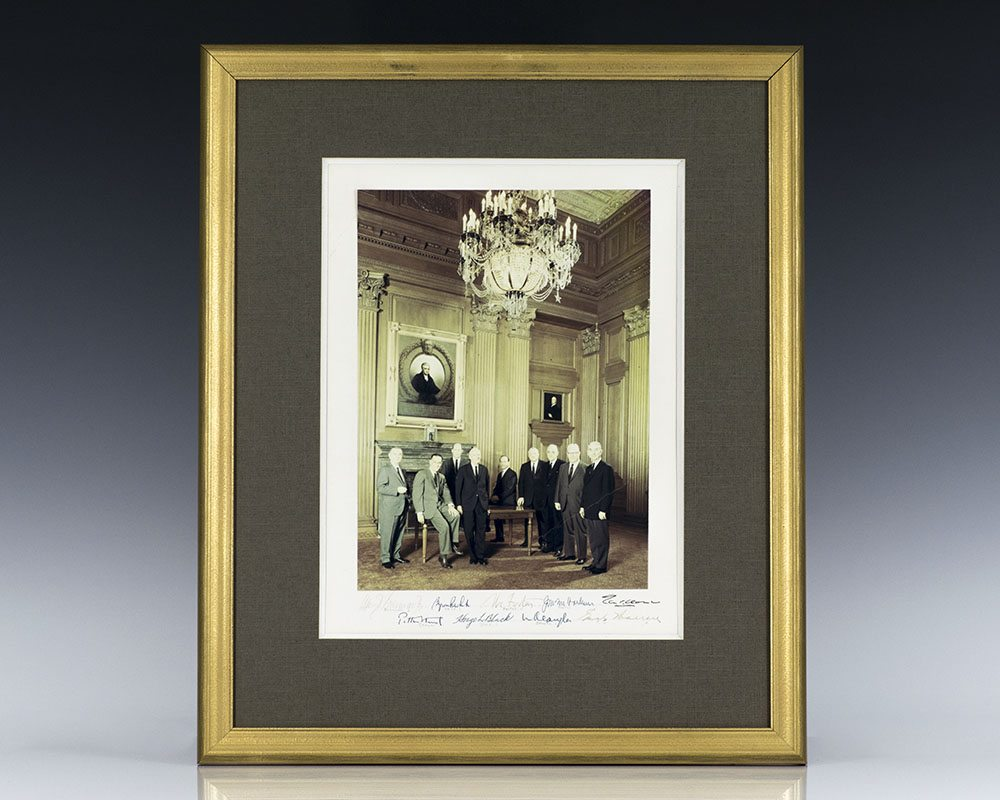 Warren Court Signed Photograph.