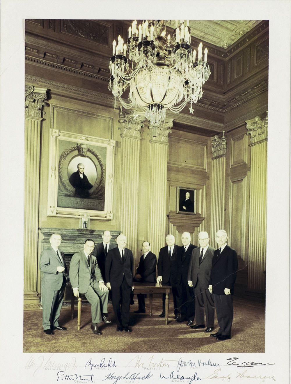 Warren Court Signed Photograph.