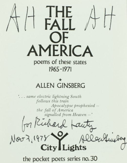 The Fall of America: Poems of These States 1965-1971.