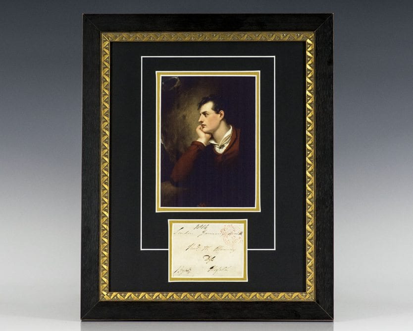 Lord Byron Signed Envelope.
