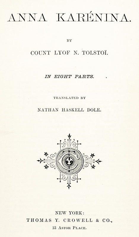 Anna Karenina Leo Tolstoy First Edition Rare