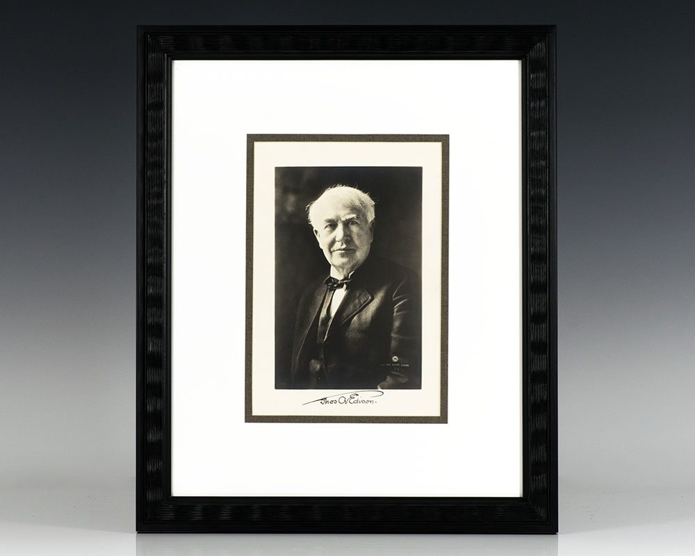 Thomas A. Edison Signed Photograph.