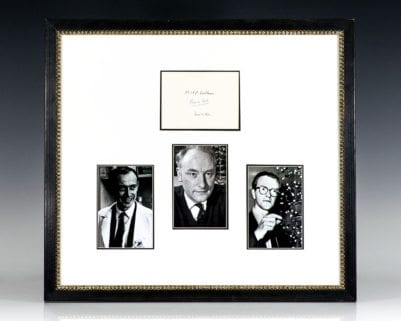 Francis Crick, James Watson and Maurice Wilkins Autograph.