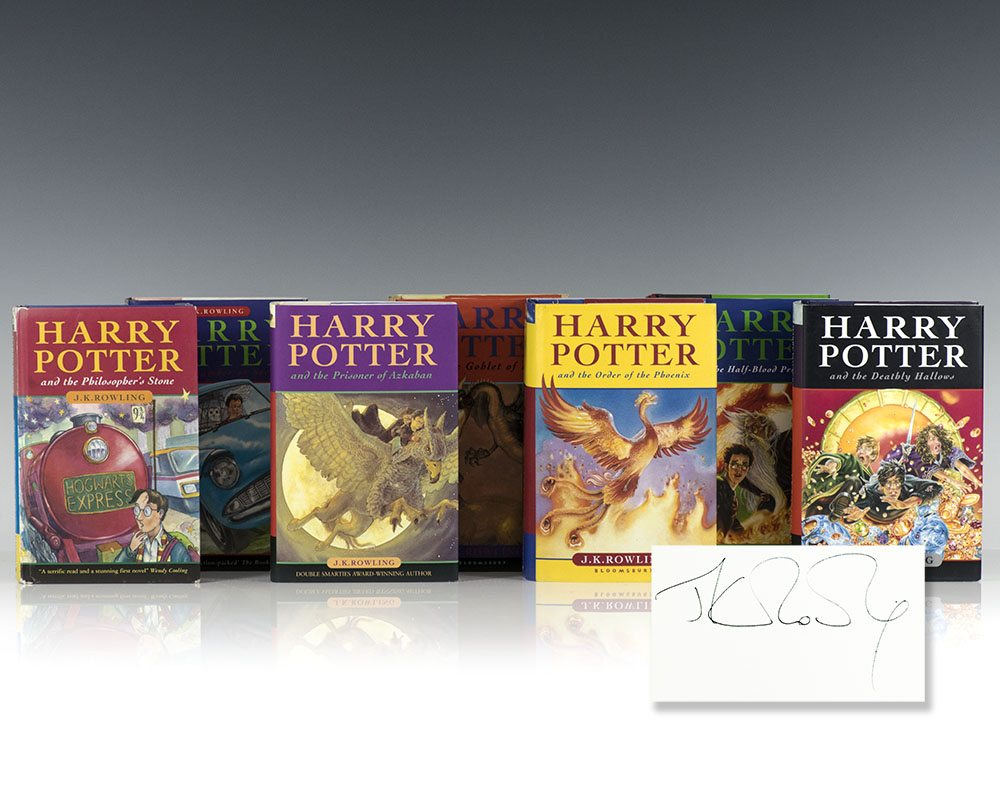 Harry Potter Series. Harry Potter and the Philosopher's Stone, Chamber of Secrets, Prisoner of Azkaban, Goblet of Fire, Order of the Phoenix, The Half-Blood Prince, and The Deathly Hallows.