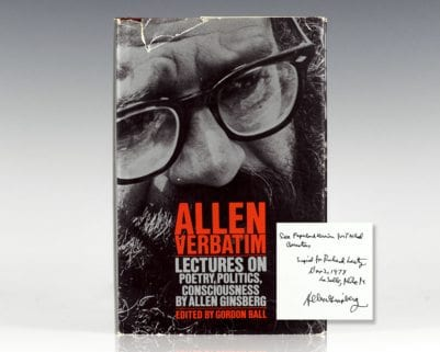 Allen Verbatim: Lectures on Poetry, Politics, Consciousness.
