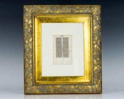 Medieval Manuscript Leaf.