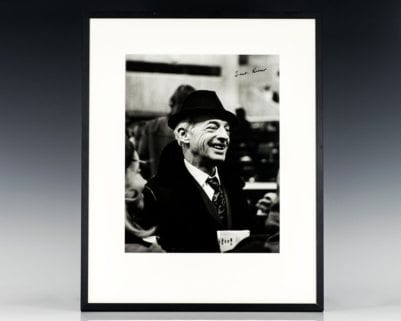 Saul Bellow Signed Photograph.