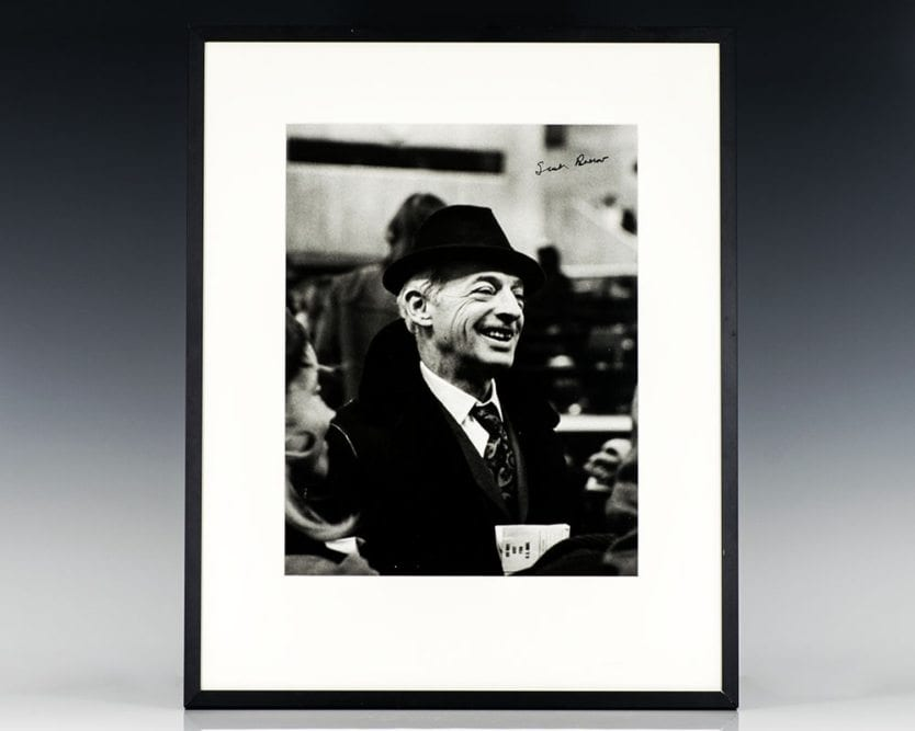 Saul Bellow Signed Photograph.