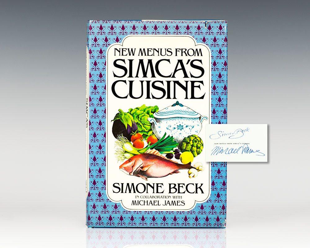 New Menus From Simca's Cuisine.