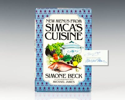 New Menus From Simca's Cuisine.
