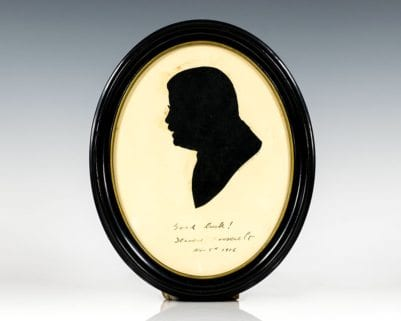 Theodore Roosevelt Signed Silhouette.