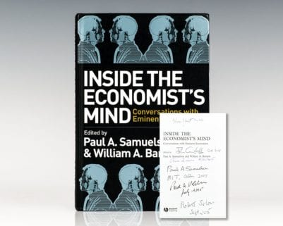 Inside the Economist's Mind: Conversations with Eminent Economists.