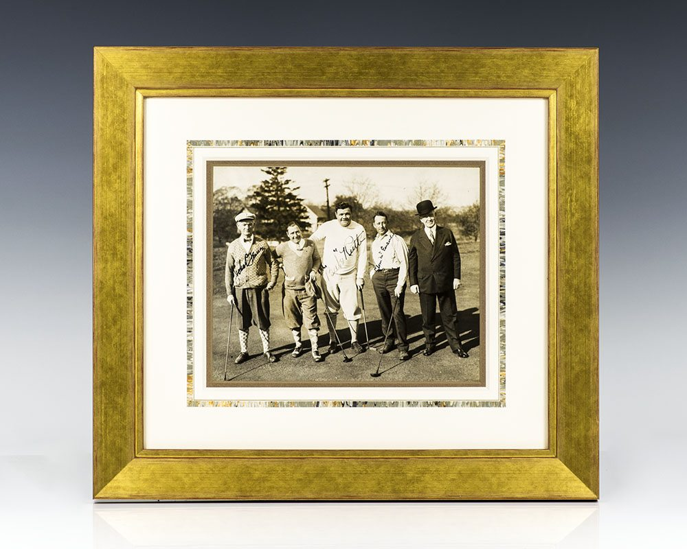 Babe Ruth Signed Photograph.