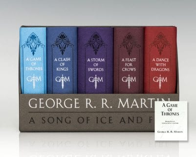 Game of Thrones; A Clash of Kings; A Storm of Swords; A Feast for Crows; A Dance with Dragons: Leather-Cloth Boxed Set