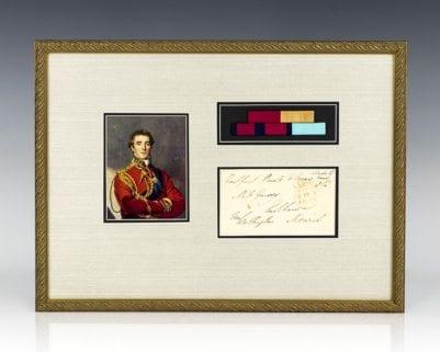 Duke of Wellington Signed Envelope.