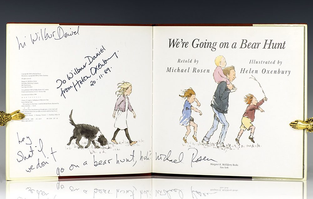 we re going on a bear hunt michael rosen first edition signed