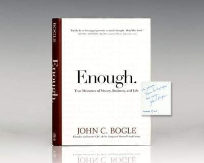 Enough: True Measures of Money, Business, and Life.