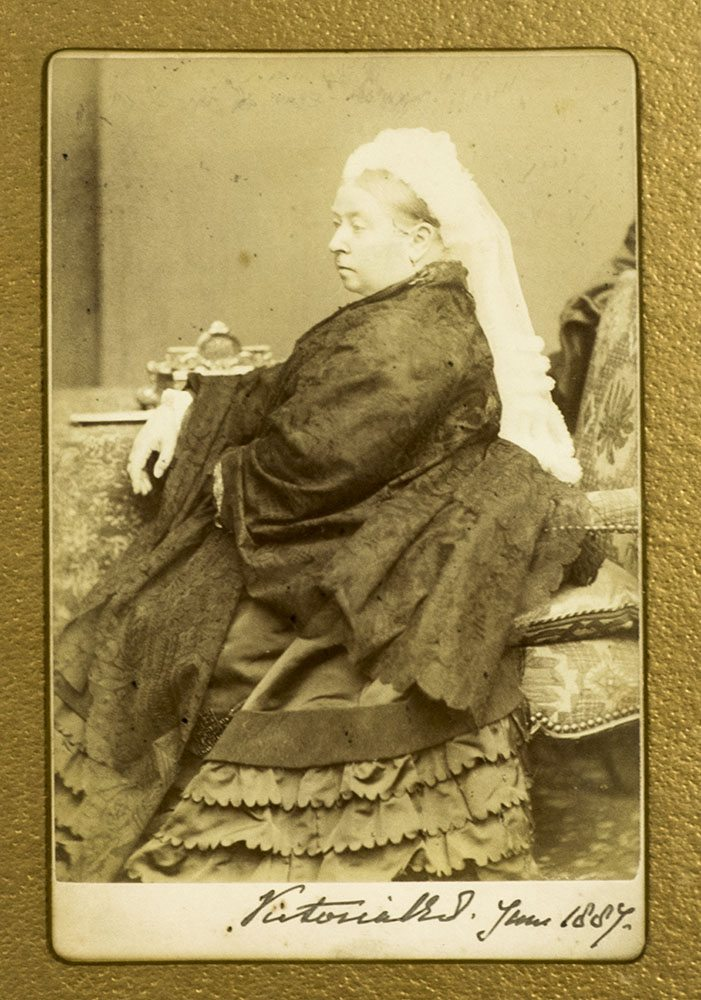 Queen Victoria Signed Photograph.