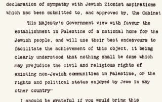 The Balfour Declaration and the History of Jewish Zionism