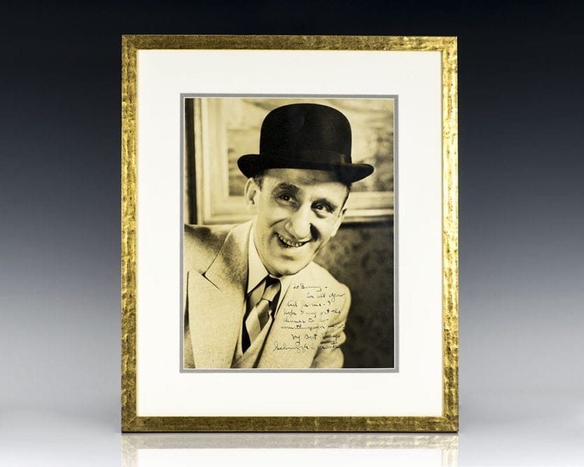 Jimmy Durante Signed Photograph.