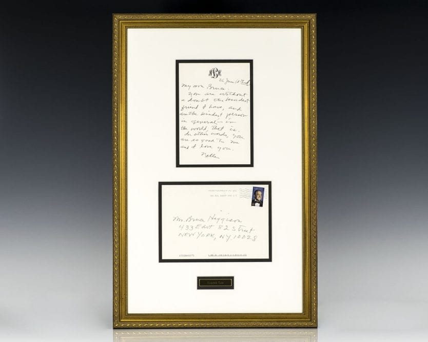 Harper Lee Signed Letter.