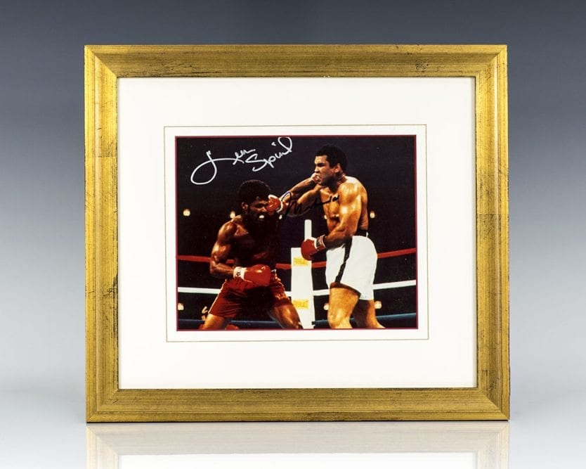 Muhammad Ali and Leon Spinks Signed Photograph.
